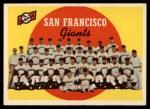 1959 Topps #69  Giants Team Checklist  Front Thumbnail