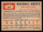 1960 Fleer #57  Johnny Evers  Back Thumbnail