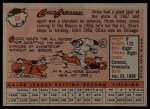 1958 Topps #55  Chico Carrasquel  Back Thumbnail