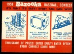 1958 Topps #0   Contest Card Front Thumbnail
