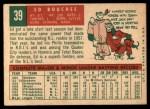 1959 Topps #39   Ed Bouchee Back Thumbnail