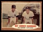 1962 Topps #163 GRN  -  Billy Gardner / Clete Boyer Hot Corner Guardians Front Thumbnail