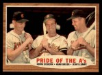 1962 Topps #127 GRN Pride of the A's  -  Norm Siebern / Hank Bauer / Jerry Lumpe Front Thumbnail