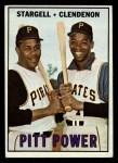 1967 Topps #266  Pitt Power  -  Willie Stargell / Donn Clendenon Front Thumbnail