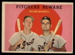 1959 Topps #34  Pitchers Beware  -  Al Kaline / Charley Maxwell Front Thumbnail