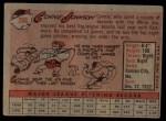 1958 Topps #266  Connie Johnson  Back Thumbnail