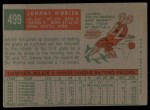 1959 Topps #499  Johnny O'Brien  Back Thumbnail