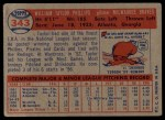 1957 Topps #343  Taylor Phillips  Back Thumbnail