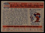 1957 Topps #376   Don Elston Back Thumbnail