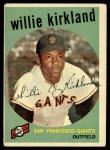 1959 Topps #484  Willie Kirkland  Front Thumbnail