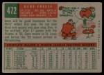 1959 Topps #472  Gene Freese  Back Thumbnail