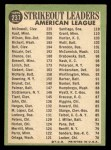 1967 Topps #237  1966 AL Strikeout Leaders  -  Jim Kaat / Sam McDowell / Earl Wilson Back Thumbnail