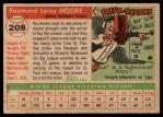 1955 Topps #208   Ray Moore Back Thumbnail
