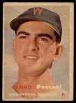 1957 Topps #211  Camilo Pascual  Front Thumbnail