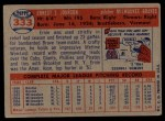 1957 Topps #333   Ernie Johnson Back Thumbnail