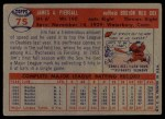 1957 Topps #75   Jimmy Piersall Back Thumbnail