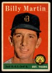 1958 Topps #271   Billy Martin Front Thumbnail