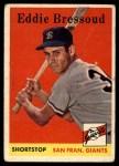 1958 Topps #263   Eddie Bressoud Front Thumbnail