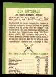 1963 Fleer #41  Don Drysdale  Back Thumbnail