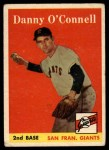 1958 Topps #166   Danny O'Connell Front Thumbnail