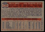 1957 Topps #129  Saul Rogovin  Back Thumbnail