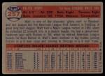 1957 Topps #257  Walt Dropo  Back Thumbnail