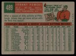 1959 Topps #489   John Powers Back Thumbnail