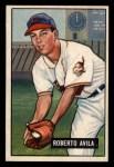 1951 Bowman #188   Bobby Avila Front Thumbnail