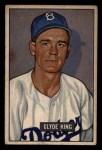 1951 Bowman #299  Clyde King  Front Thumbnail