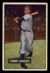1951 Bowman #291   Tommy Henrich Front Thumbnail