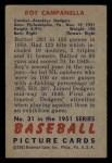 1951 Bowman #31   Roy Campanella Back Thumbnail