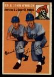 1954 Topps #139   Ed O'Brien / John O'Brien Front Thumbnail