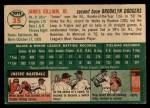 1954 Topps #35   Jim Gilliam Back Thumbnail