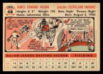 1956 Topps #48  Jim Hegan  Back Thumbnail