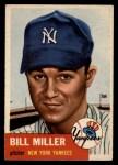 1953 Topps #100   Bill Miller Front Thumbnail