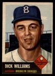 1953 Topps #125   Dick Williams Front Thumbnail