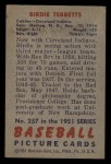 1951 Bowman #257  Birdie Tebbetts  Back Thumbnail