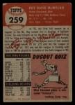 1953 Topps #259  Roy McMillan  Back Thumbnail