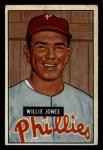1951 Bowman #112  Willie Jones  Front Thumbnail