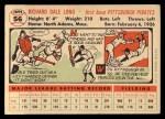1956 Topps #56  Dale Long  Back Thumbnail