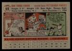 1956 Topps #65   John O'Brien Back Thumbnail