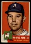 1953 Topps #227   Morris Martin Front Thumbnail