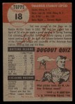 1953 Topps #18  Ted Lepcio  Back Thumbnail