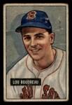 1951 Bowman #62  Lou Boudreau  Front Thumbnail