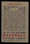 1951 Bowman #316  Duane Pillette  Back Thumbnail