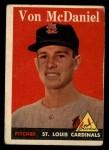 1958 Topps #65 WN  Von McDaniel Front Thumbnail