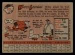 1958 Topps #195   Whitey Lockman Back Thumbnail