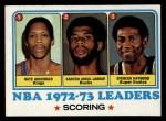 1973 Topps #153  Spencer Haywood / Nate Archibald / Kareem Abdul-Jabbar  Front Thumbnail