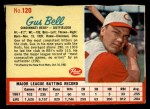1962 Post Cereal #120   Gus Bell  Front Thumbnail