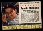 1961 Post Cereal #48 BOX  Frank Malzone  Front Thumbnail